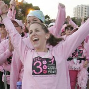 Bridget celebrates 60 miles at the San Diego 3-Day, 2008