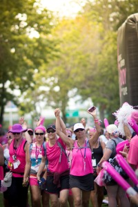 Walkers enter the finish triumphantly of the Susan G. Komen  Boston 3-Day®