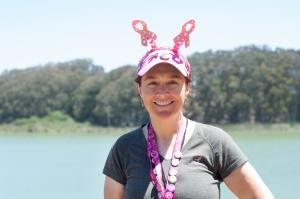 Sandra Chiesa is all smiles at the 2013 San Francisco Bay Area 3-Day