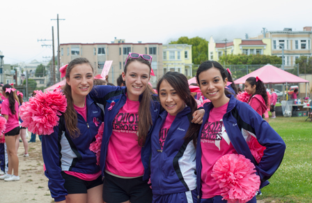 cheer 2013 San Francisco Bay Area Susan G. Komen 3-Day breast cancer walk