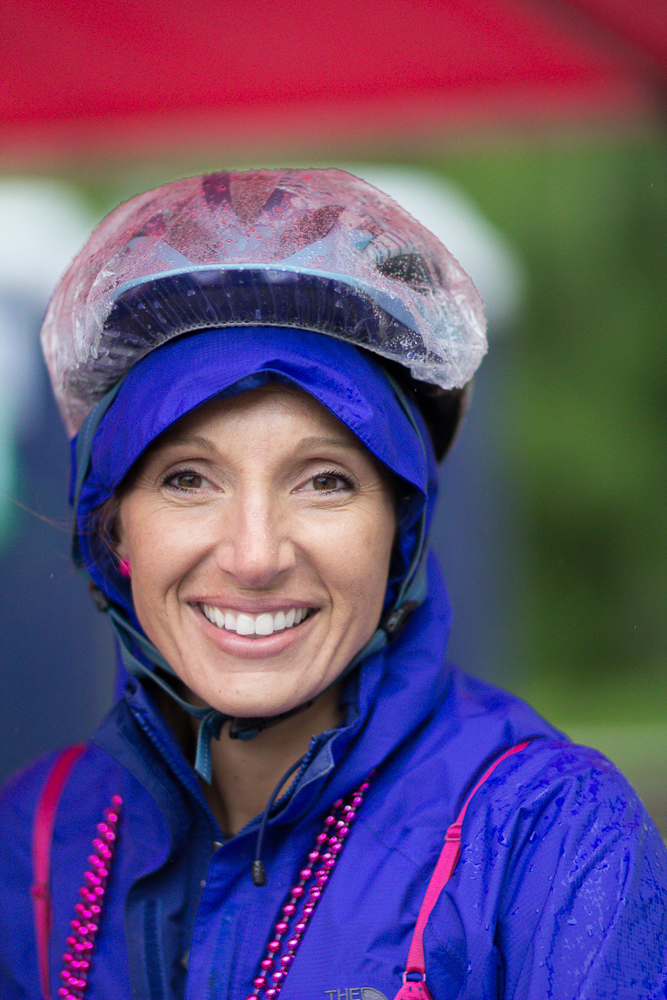 helmet bike rain poncho 2013 Boston Susan G. Komen 3-Day Breast Cancer Walk