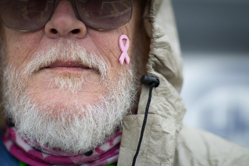 pink ribbon beard 2013 Boston Susan G. Komen 3-Day Breast Cancer Walk