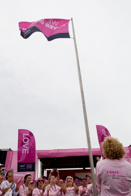 love flags 2013 Boston Susan G. Komen 3-Day Breast Cancer Walk