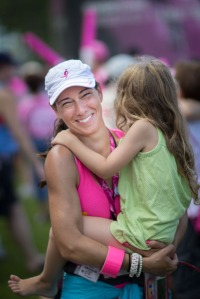 Walker Becky G. is embraced by her daughter after walking 60 miles on the Komen 3-Day®
