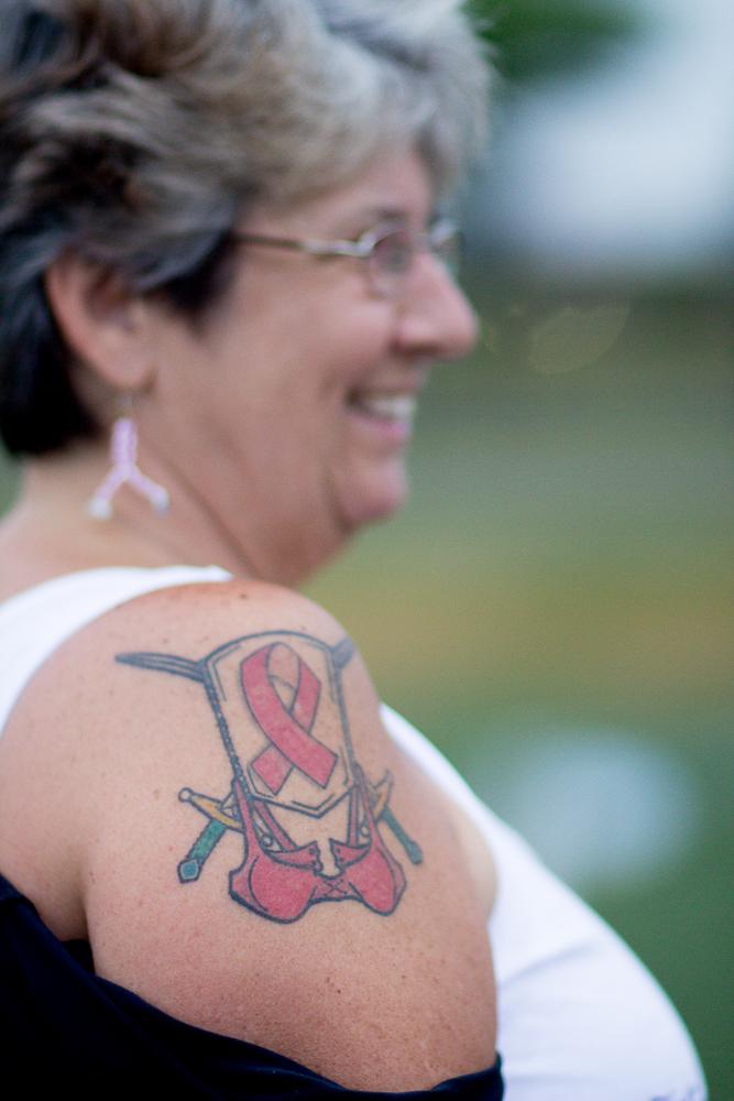pink ribbon tattoo 2013 Boston Susan G. Komen 3-Day Breast Cancer Walk