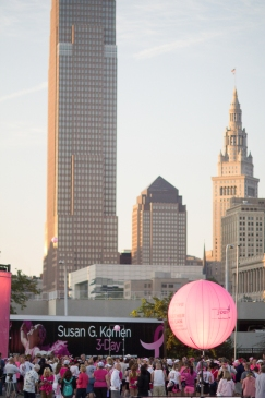 skyline 2013 Cleveland Susan G. Komen 3-Day breast cancer walk