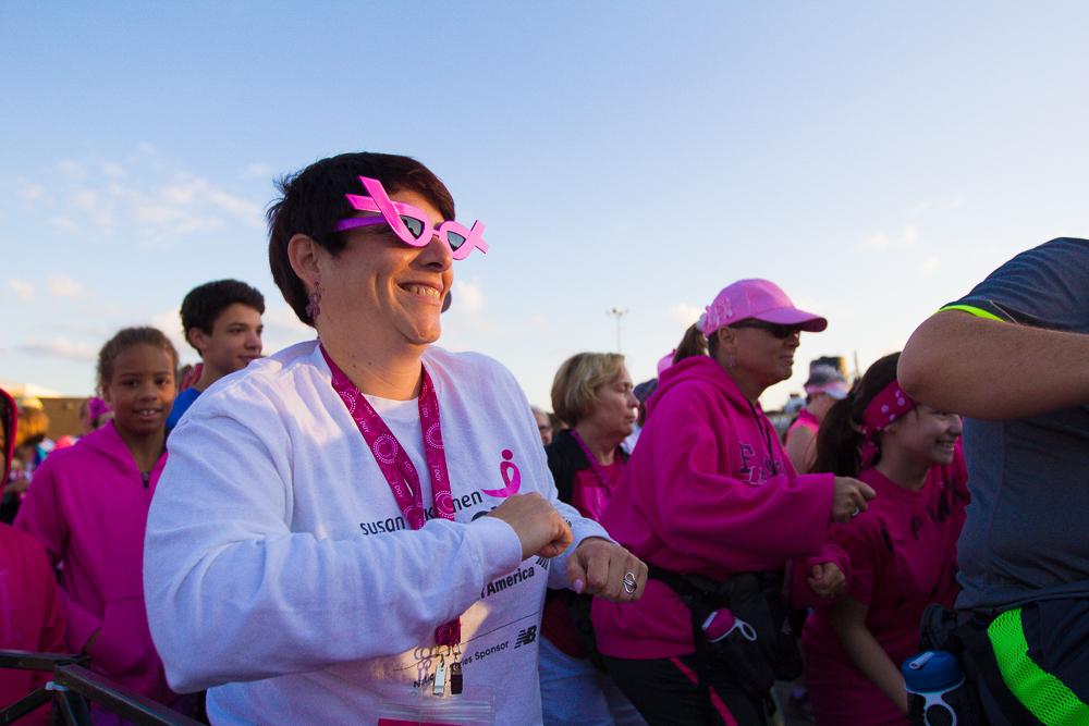 pink ribbon glasses 2013 Cleveland Susan G. Komen 3-Day breast cancer walk
