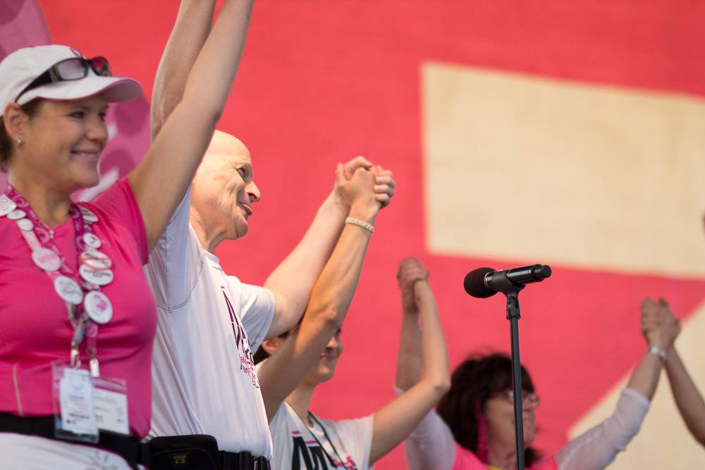 survivor holding hands 2013 Cleveland Susan G. Komen 3-Day breast cancer walk