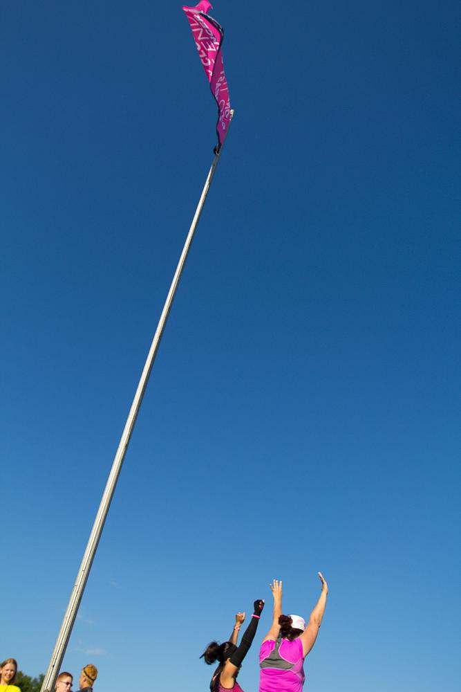 flag 2013 Cleveland Susan G. Komen 3-Day breast cancer walk