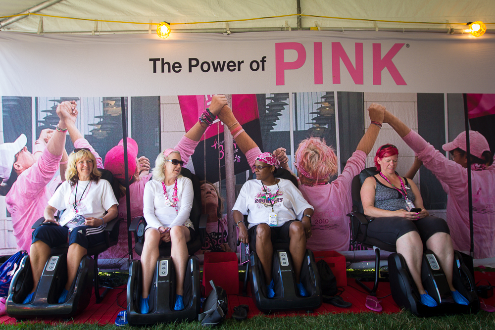 the power of pink massage 2013 Cleveland Susan G. Komen 3-Day breast cancer walk