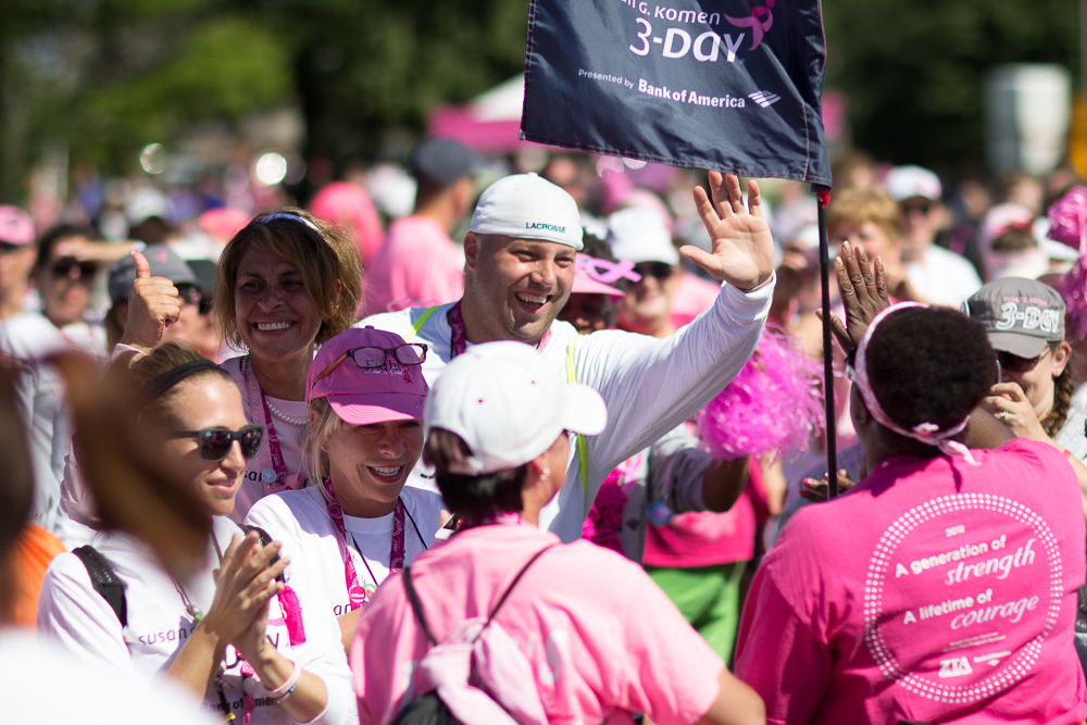 high five closing 2013 Cleveland Susan G. Komen 3-Day breast cancer walk