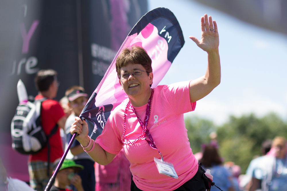 high five 2013 Cleveland Susan G. Komen 3-Day breast cancer walk