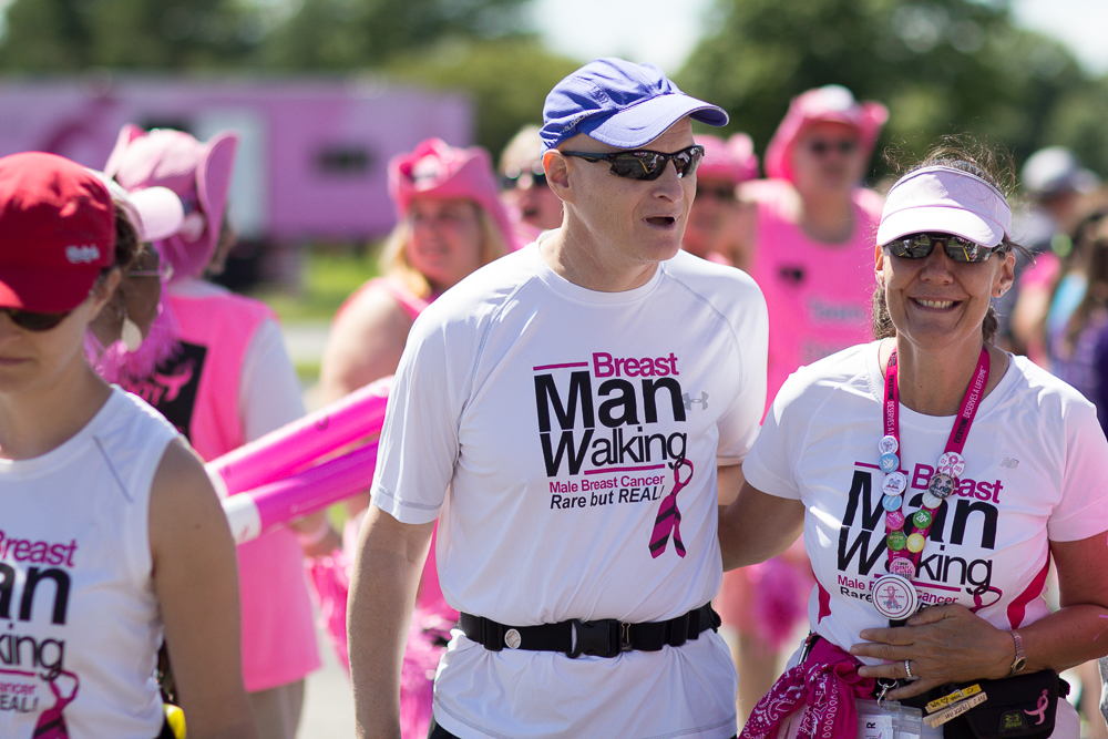 man walking 2013 Cleveland Susan G. Komen 3-Day breast cancer walk