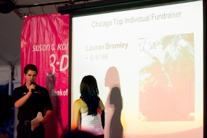 Lauran Bromley was recognized for her amazing contribution to finding a cure for breast cancer