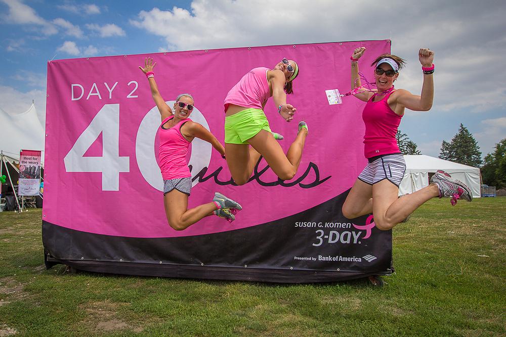 day two jump 2013 Chicago Susan G. Komen 3-Day breast cancer walk
