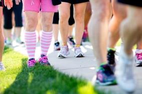 pink socks shoes 2013 Chicago Susan G. Komen 3-Day breast cancer walk