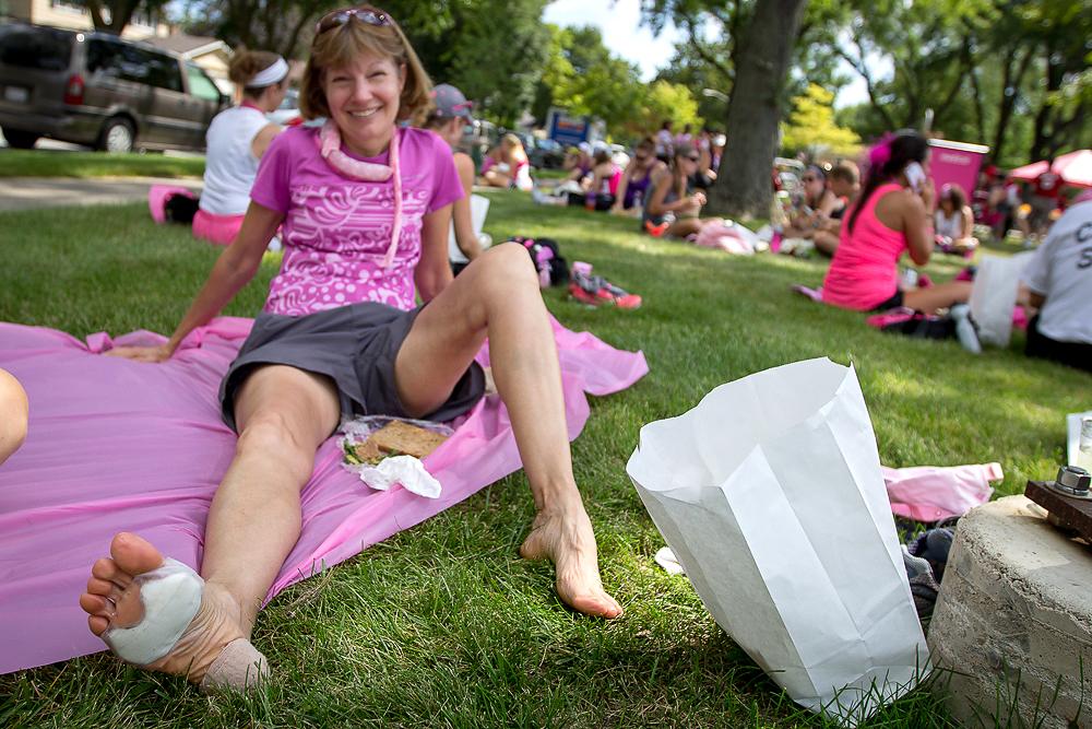 rest lunch 2013 Chicago Susan G. Komen 3-Day breast cancer walk