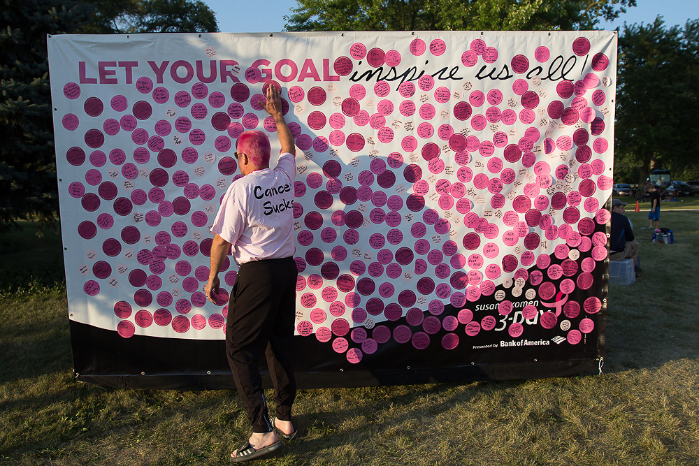goal wall 2013 Chicago Susan G. Komen 3-Day breast cancer walk
