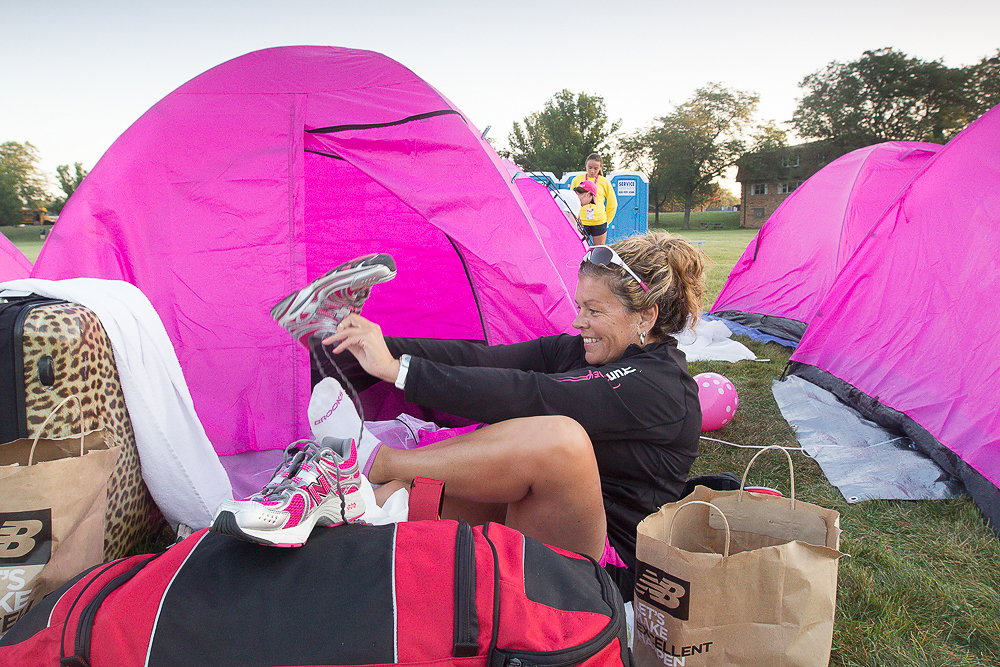 pink tent shoe 2013 Chicago Susan G. Komen 3-Day breast cancer walk