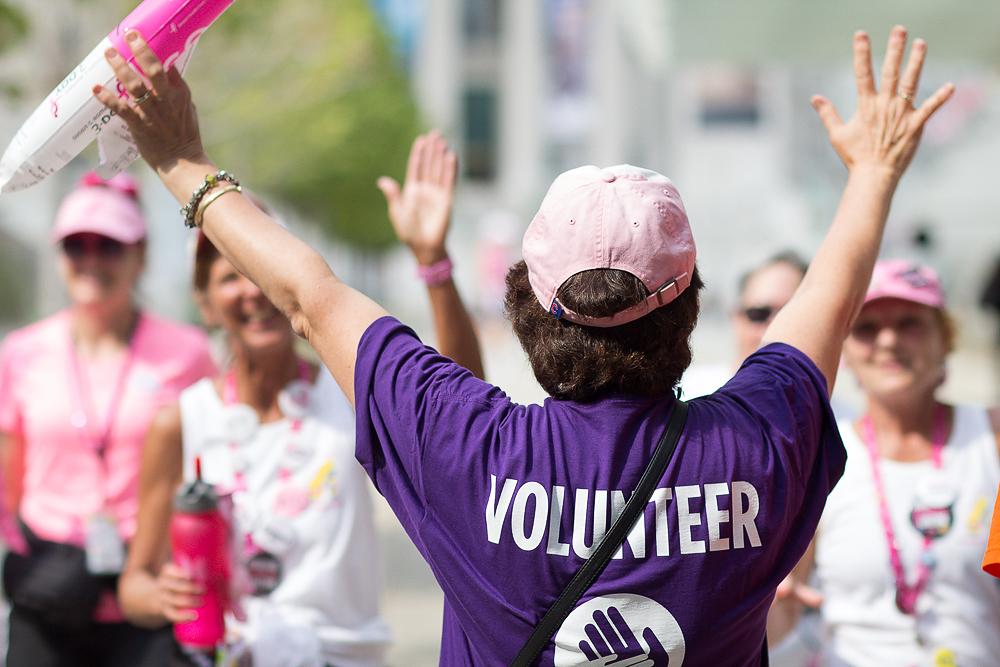 volunteer closing 2013 Chicago Susan G. Komen 3-Day breast cancer walk