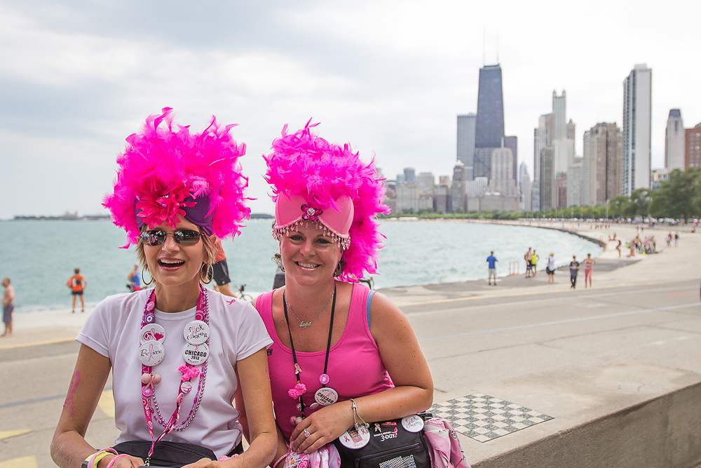 pink feathers 2013 Chicago Susan G. Komen 3-Day breast cancer walk