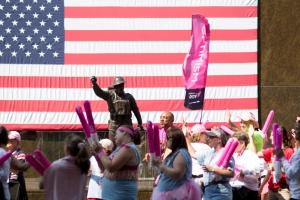 Chicago 3-Day walkers are cheered into Soldier Field at the end of their 60-mile journey