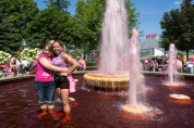 pink fountain 2013 Michigan Susan G. Komen 3-Day breast cancer walk