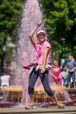 pink fountain 2013 Michigan Susan G. Komen 3-Day breast cancer walk