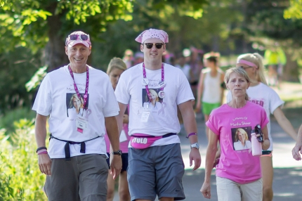 John and Rob Shinar walk on Day 1 in the Twin Cities 3-Day, fight to end breast cancer