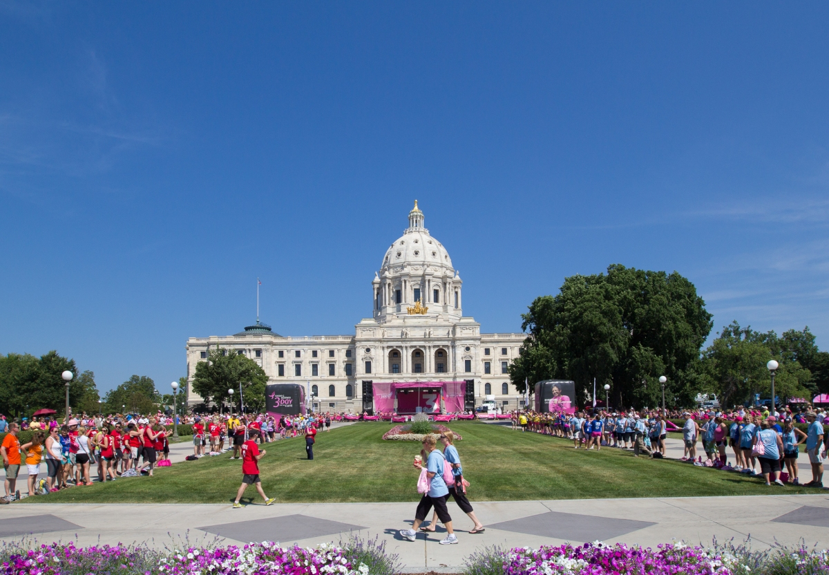 capitol closing 2013 Twin Cities Susan G. Komen 3-Day breast cancer walk minneapolis st. paul