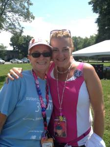 3-Day coaches, Joan and Laurie walked and crewed in Boston, in memory of a special friend, Bridget.
