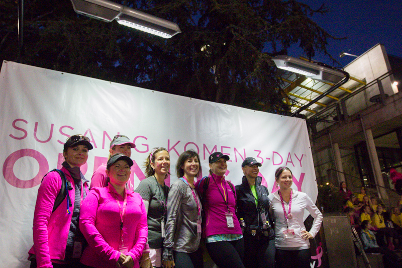 opening 2013 Seattle Susan G. Komen 3-Day breast cancer walk