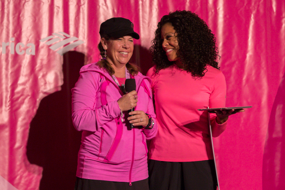 accepts the award for Top Individual Fundraiser at the Seattle 3-Day