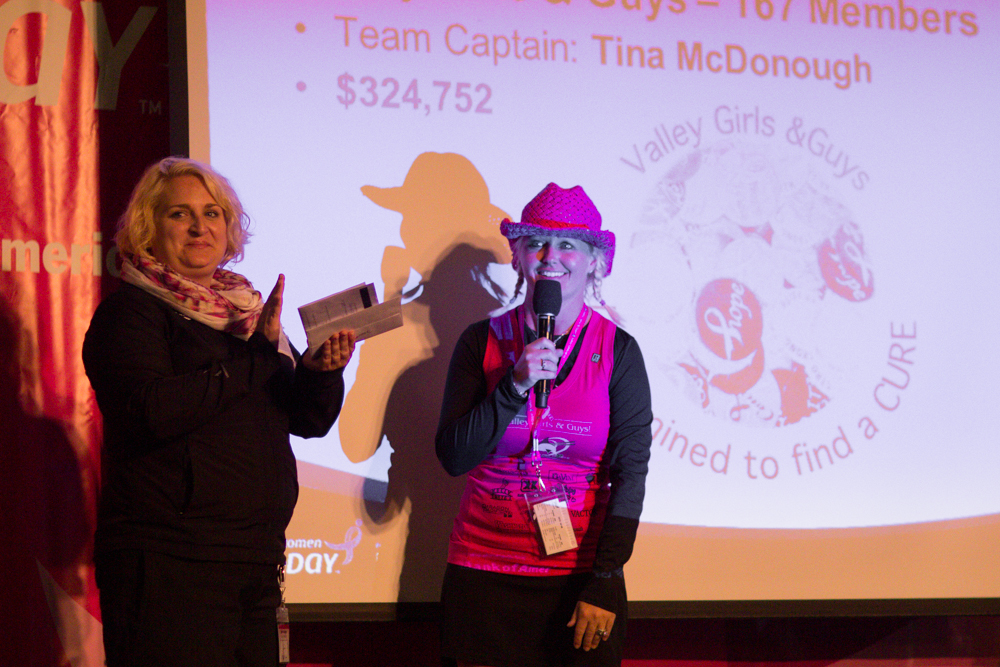Top Fundraising Team Award is accepted by