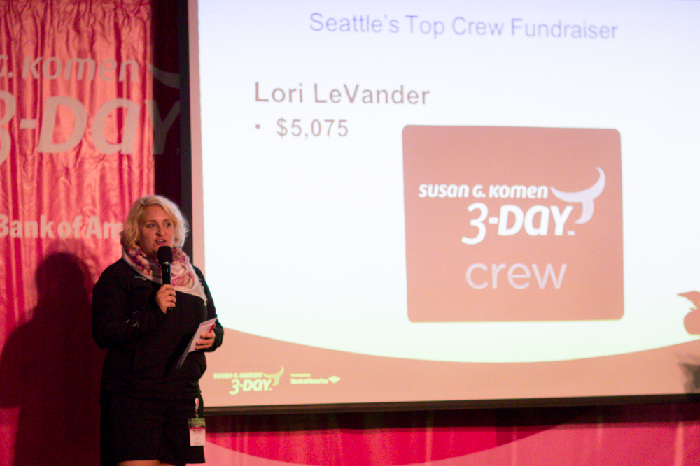 Though not present, Lori LeVander was given a huge round of applause for her fundraising efforts as the top Crew Member