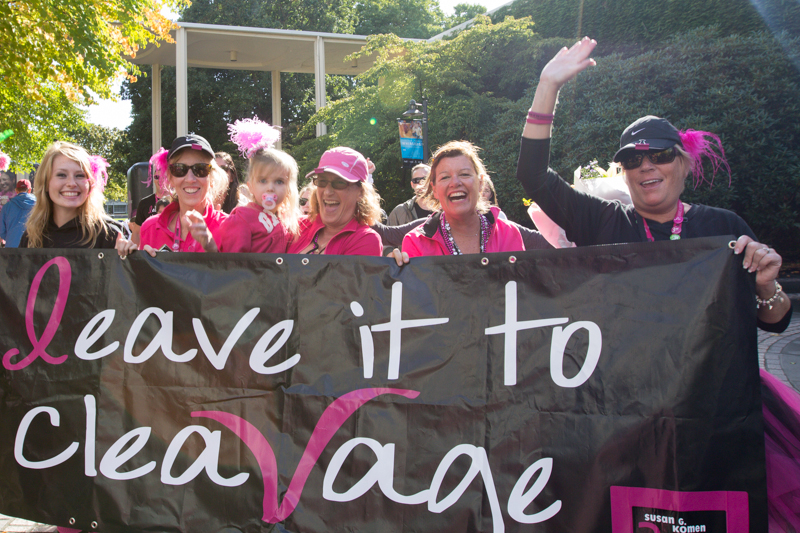 leave it to cleavage 2013 Seattle Susan G. Komen 3-Day breast cancer walk
