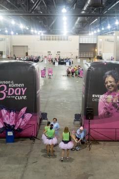 indoor camp inflatable 2013 Philadelphia Susan G. Komen 3-Day breast cancer walk