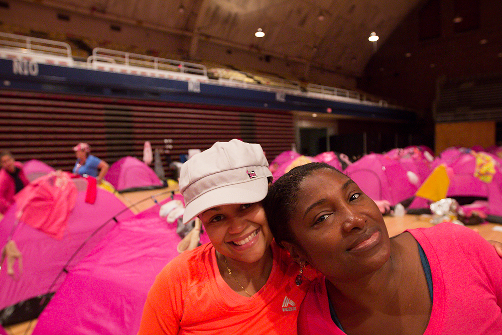 indoor camp 2013 Washington DC d.c. Susan G. Komen 3-Day breast cancer walk