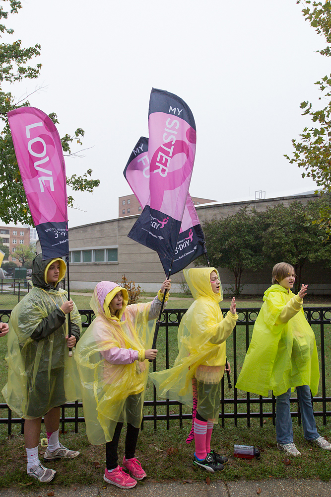 rain 2013 Washington DC d.c. Susan G. Komen 3-Day breast cancer walk