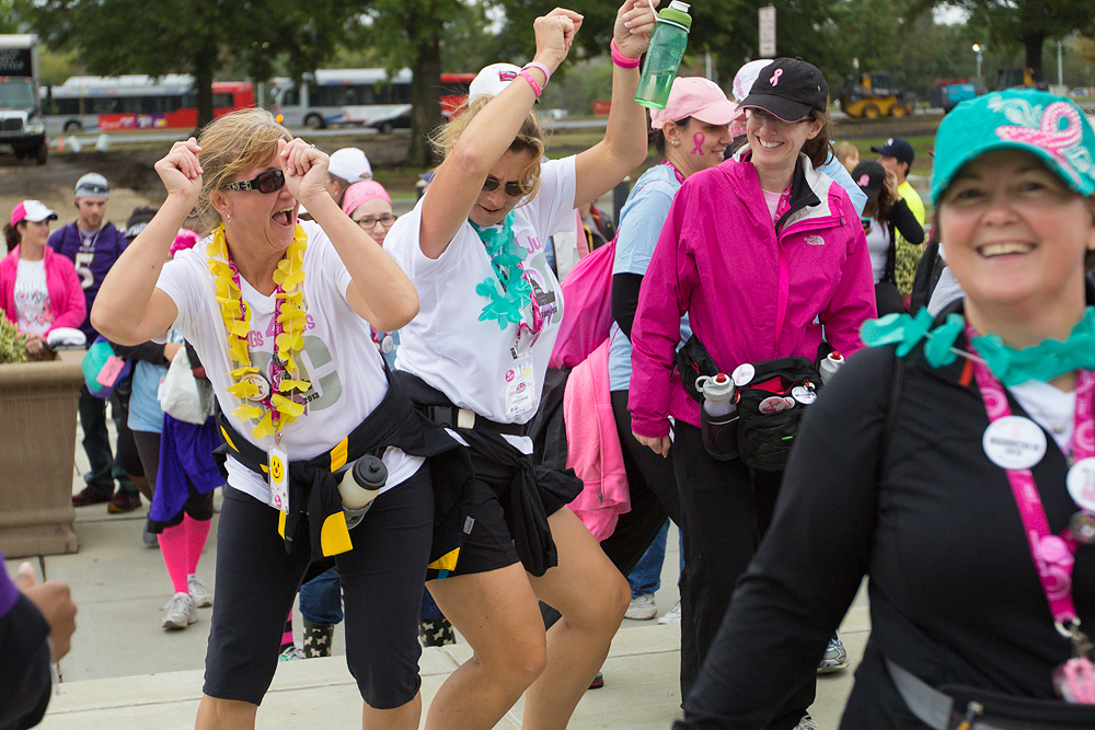 dancing 2013 Washington DC d.c. Susan G. Komen 3-Day breast cancer walk