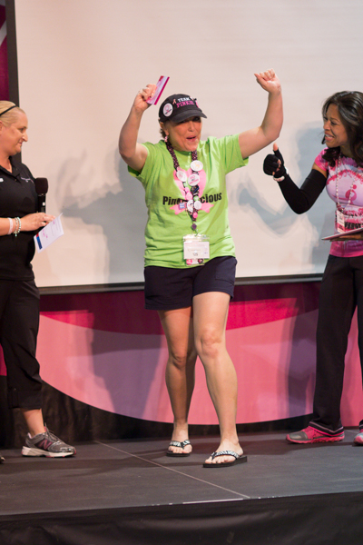 Michelle Garcia receives the award for Top Individual Fundraiser for the 2013 Atlanta 3-Day