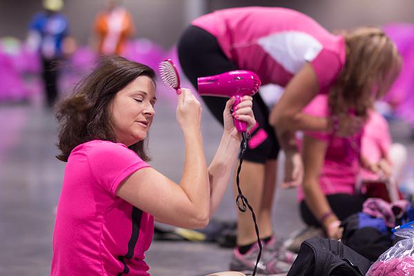 indoor camping hair dryer 2013 Atlanta Susan G. Komen 3-Day Breast Cancer Walk