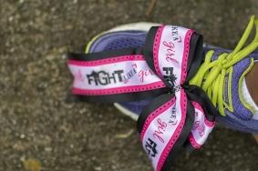 flight like a girl shoe lace 2013 Atlanta Susan G. Komen 3-Day Breast Cancer Walk