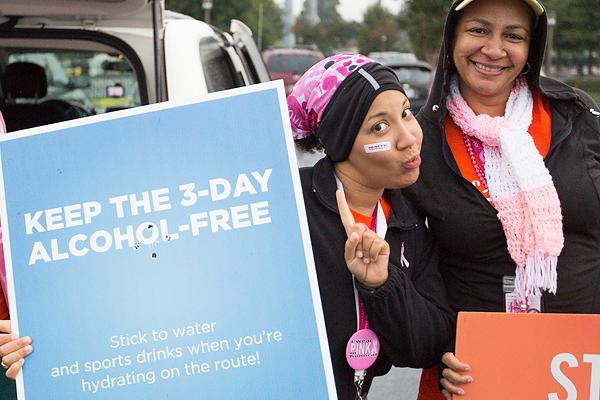 no alcohol 2013 Atlanta Susan G. Komen 3-Day Breast Cancer Walk