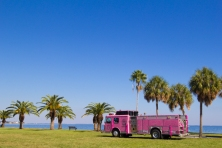 pink fire truck 2013 Tampa Bay Susan G. Komen 3-Day breast cancer walk