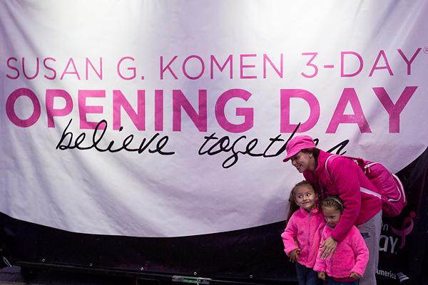 opening ceremony 2013 Dallas Fort Worth Susan G. Komen 3-Day breast cancer walk