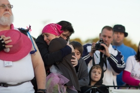 hug opening 2013 Dallas Fort Worth Susan G. Komen 3-Day breast cancer walk