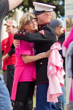 hug marine 2013 Dallas Fort Worth Susan G. Komen 3-Day breast cancer walk