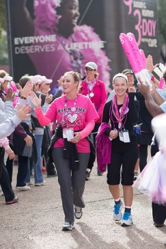 high five closing 2013 Dallas Fort Worth Susan G. Komen 3-Day breast cancer walk