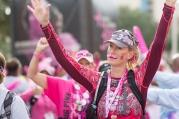 pink mustache high five closing 2013 Dallas Fort Worth Susan G. Komen 3-Day breast cancer walk